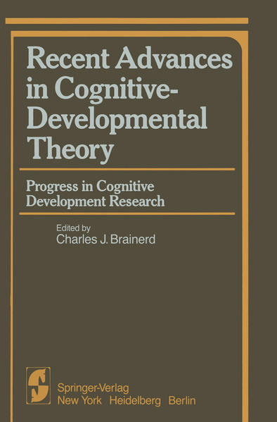 Recent Advances in Cognitive-Developmental Theory - Coverbild