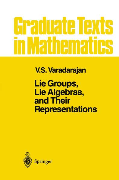 Lie Groups, Lie Algebras, and Their Representations - Coverbild