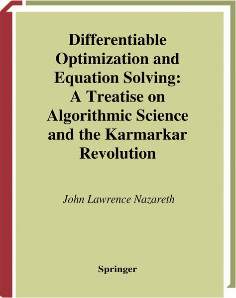 Differentiable Optimization and Equation Solving - Coverbild