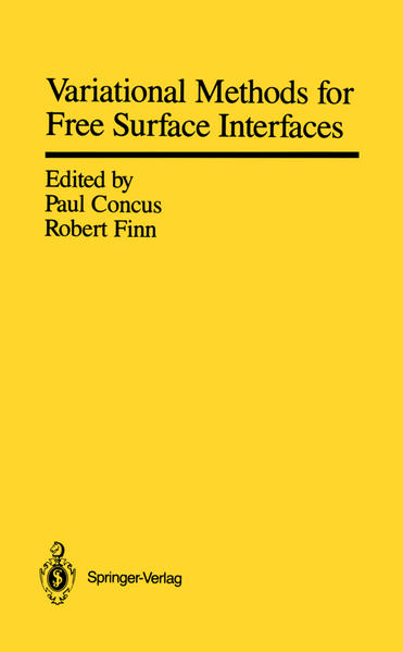 Variational Methods for Free Surface Interfaces - Coverbild