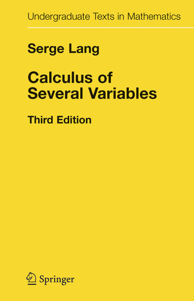 Calculus of Several Variables - Coverbild