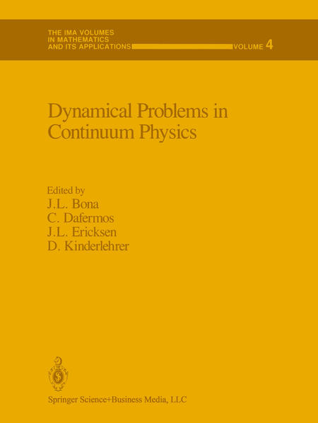 Dynamical Problems in Continuum Physics - Coverbild