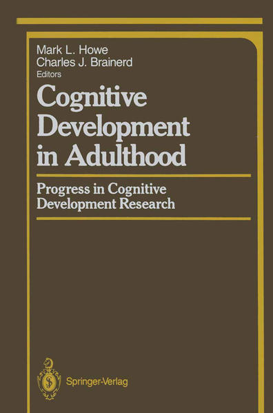 Cognitive Development in Adulthood - Coverbild