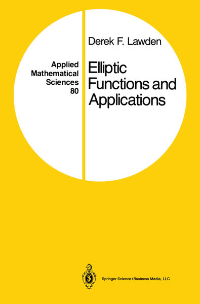 Elliptic Functions and Applications - Coverbild