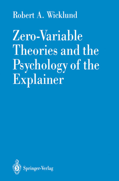 Zero-Variable Theories and the Psychology of the Explainer - Coverbild