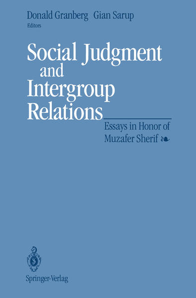 Social Judgment and Intergroup Relations - Coverbild