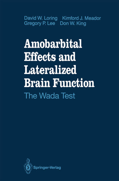 Amobarbital Effects and Lateralized Brain Function - Coverbild