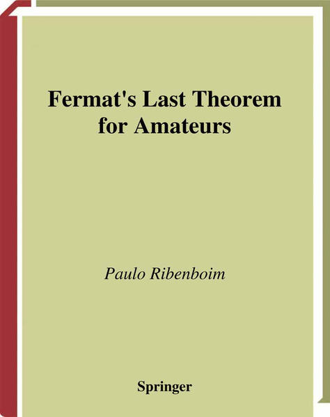 Fermat's Last Theorem for Amateurs - Coverbild