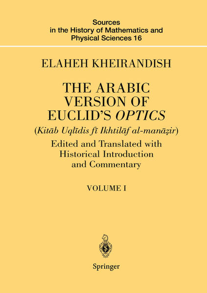 The Arabic Version of Euclid's Optics - Coverbild
