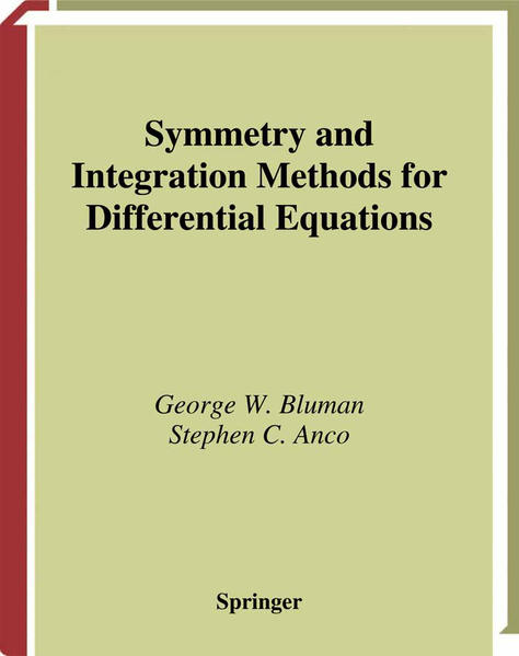 Symmetry and Integration Methods for Differential Equations - Coverbild