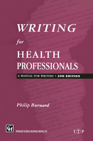 Writing for Health Professionals - Coverbild