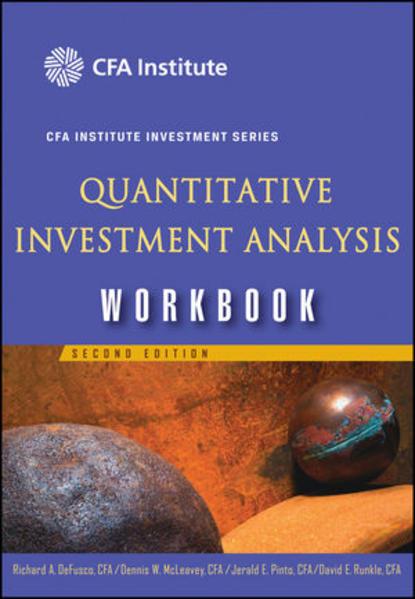 Quantitative Investment Analysis Workbook - Coverbild