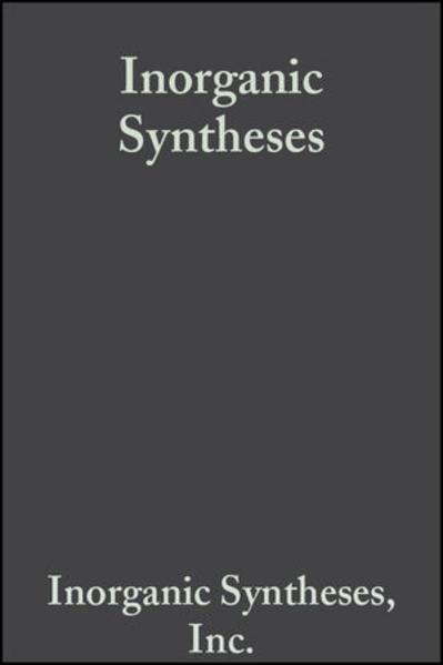 Inorganic Syntheses, Volume 7 - Coverbild