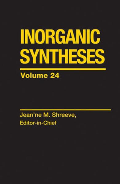 Inorganic Syntheses, Volume 24 - Coverbild