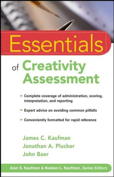 Essentials of Creativity Assessment - Coverbild