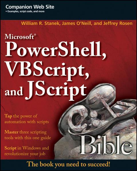 Microsoft PowerShell, VBScript and JScript Bible - Coverbild