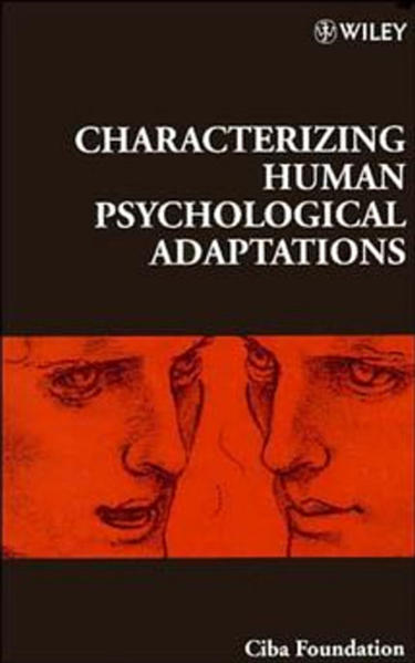 Characterizing Human Psychological Adaptations - Coverbild