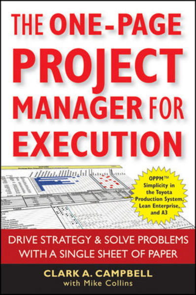 The One-Page Project Manager for Execution - Coverbild
