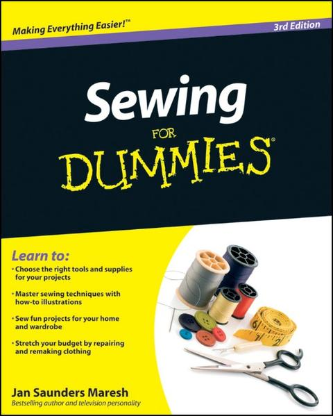 Sewing For Dummies - Coverbild