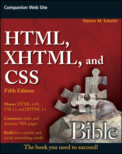 HTML, XHTML, and CSS Bible - Coverbild