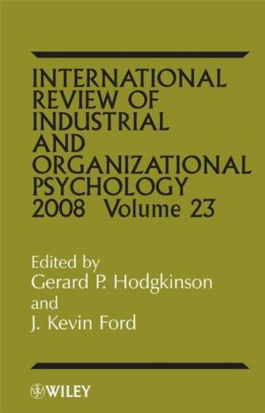 International Review of Industrial and Organizational Psycholog, 2008 Volume 23 - Coverbild