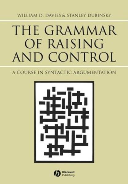 The Grammar of Raising and Control - Coverbild