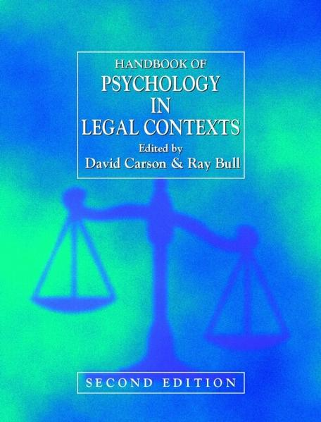 Handbook of Psychology in Legal Contexts - Coverbild