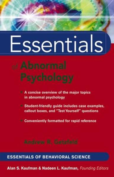 Essentials of Abnormal Psychology - Coverbild