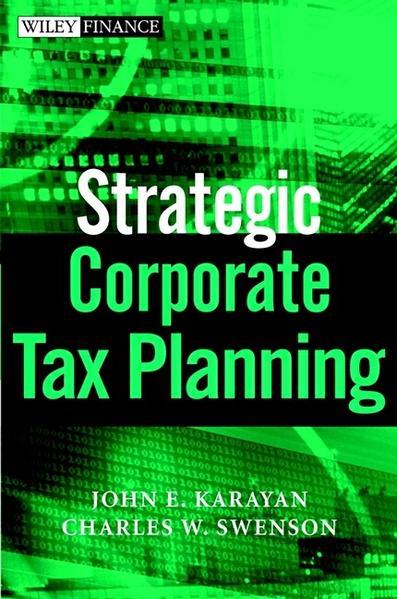 Strategic Corporate Tax Planning - Coverbild