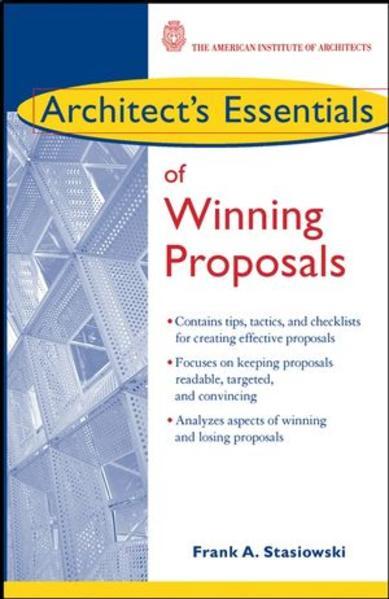 Architect's Essentials of Winning Proposals - Coverbild
