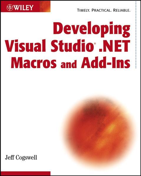 Developing Visual Studio .NET Macros and Add-Ins - Coverbild