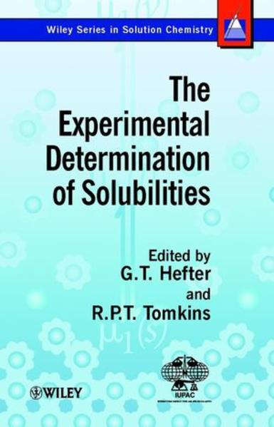 The Experimental Determination of Solubilities - Coverbild