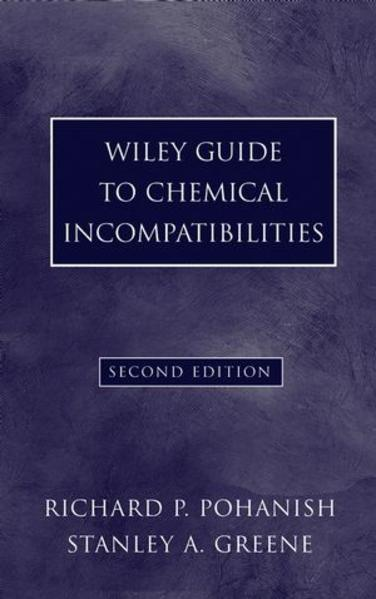 Wiley Guide to Chemical Incompatibilities - Coverbild