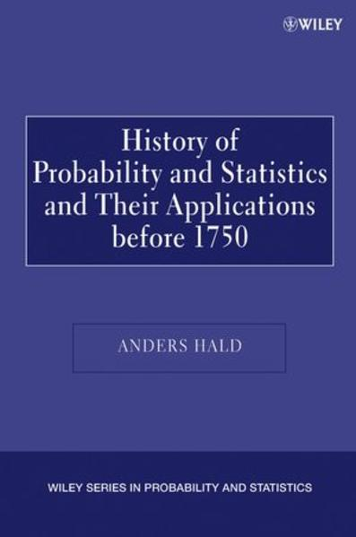 A History of Probability and Statistics and Their Applications before 1750 - Coverbild