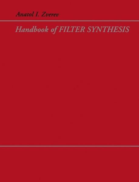 Handbook of Filter Synthesis - Coverbild