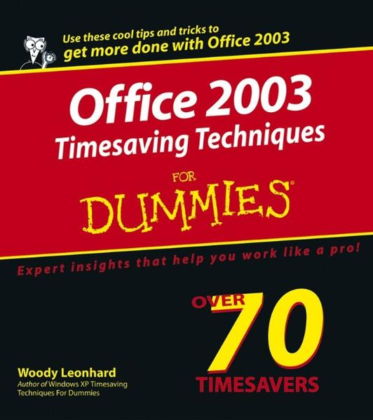Office 2003 Timesaving Techniques For Dummies - Coverbild