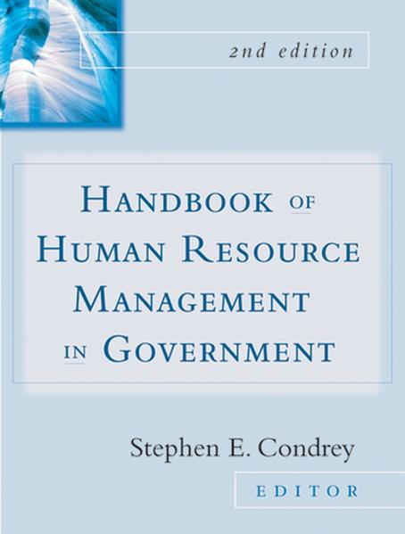 Handbook of Human Resources Management in Government - Coverbild