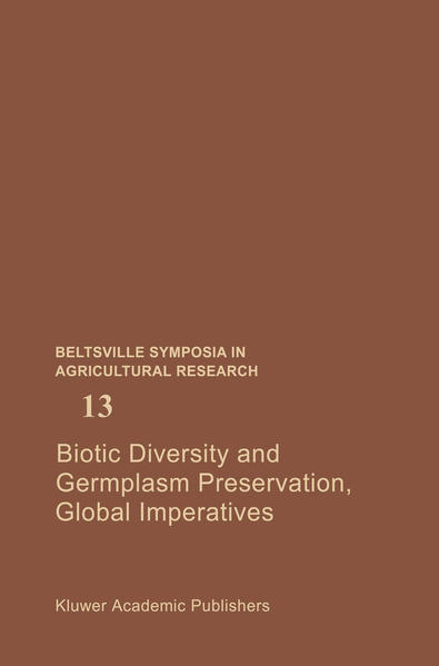 Biotic Diversity and Germplasm Preservation, Global Imperatives - Coverbild