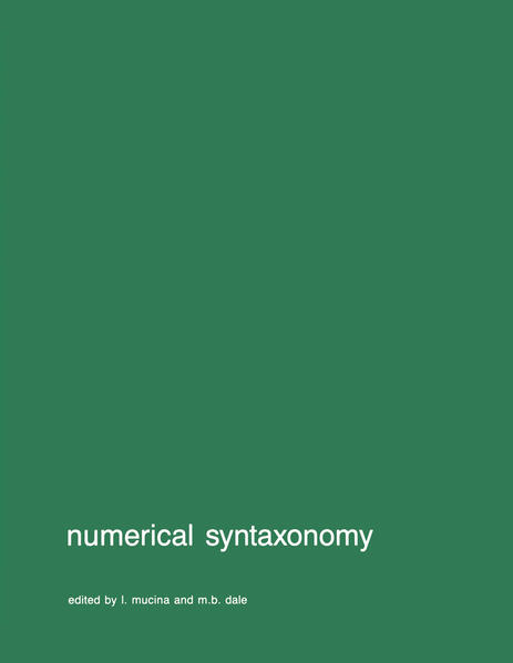 Numerical syntaxonomy - Coverbild