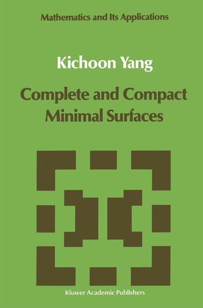 Complete and Compact Minimal Surfaces - Coverbild