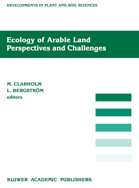 Ecology of Arable Land — Perspectives and Challenges - Coverbild