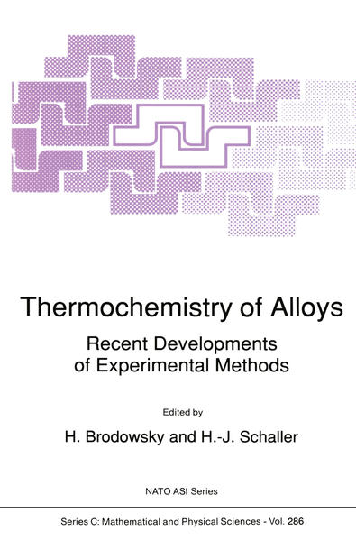 Thermochemistry of Alloys - Coverbild