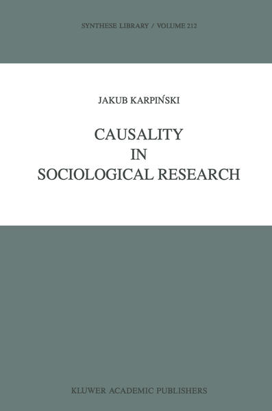 Causality in Sociological Research - Coverbild