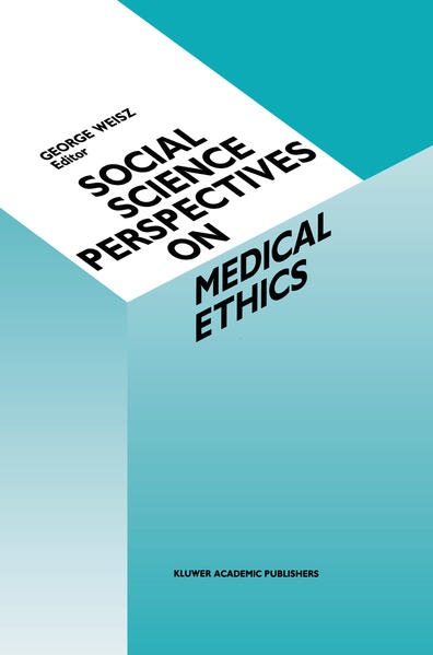 Social Science Perspectives on Medical Ethics - Coverbild