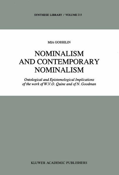 Nominalism and Contemporary Nominalism - Coverbild
