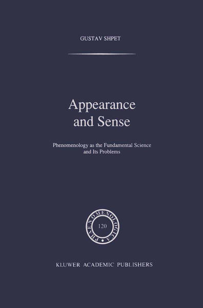 Appearance and Sense - Coverbild