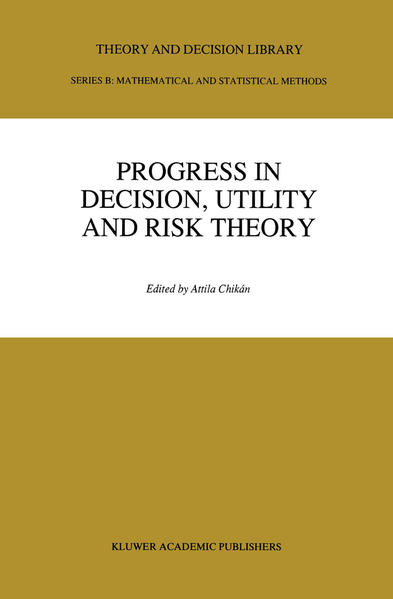 Progress In Decision, Utility And Risk Theory - Coverbild
