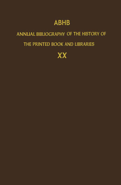 ABHB Annual Bibliography of the History of the Printed Book and Libraries - Coverbild