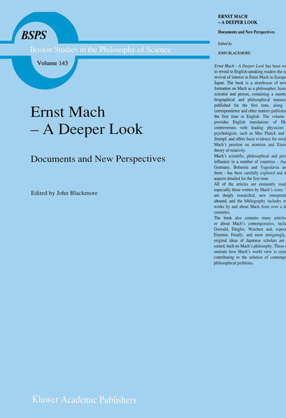 Ernst Mach — A Deeper Look - Coverbild