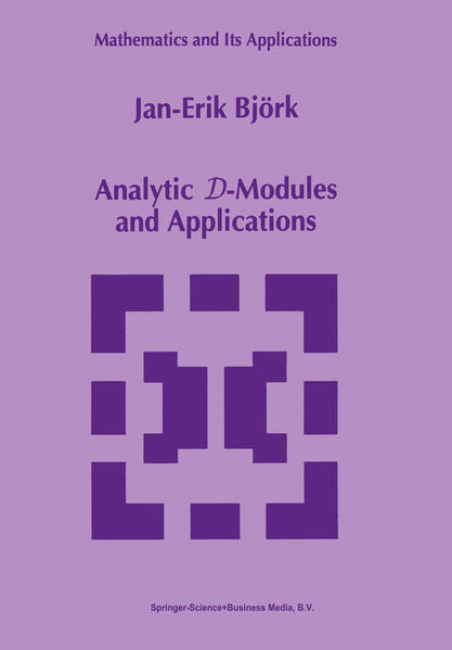 Analytic D-Modules and Applications - Coverbild